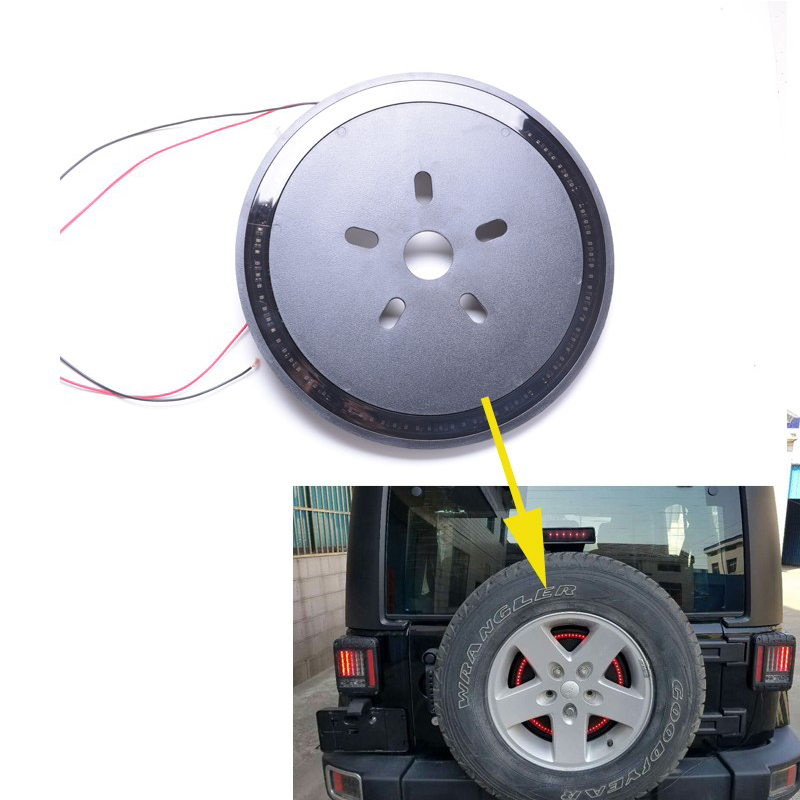 Spare Tire LED Lamp Wheel Rear 3rd Brake Decoration Light for Jeep JK Wrangler windshield pillar mount grab handles for jeep wrangler jk and jku unlimited solid mount grab textured steel bar front fits jeep
