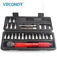 25PCS Preset Torque Wrench Keys Set Universal Key Ratchet Wrench Socket Spanner Set Workshop Tools