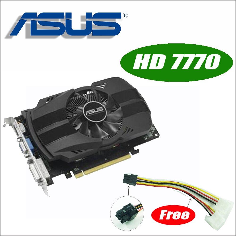 Asus HD7770-FMLII-1GD5 HD 7770 HD7770 1G D5 GDDR5 128 Peu pc de bureau Graphique vidéo Cartes PCI Express 3.0 GTX 750 Ti GTX750