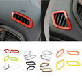 Hot Selling Dashboard Front Air Condition Vent Outlet Covers Sticker Fit for Jeep Renegade 2015-2016