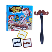LEWEIHAUN Creative Moustaches Match Moustache Smash Fun Mustache Pass Card Children Family Game Kids Toys For Gifts