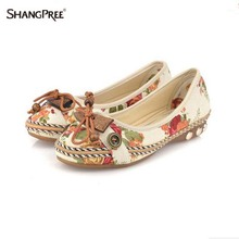 Large size 35-42 Summer fall Women Flats shoes Handmade Beaded Loafers Zapatos Mujer Retro Ethnic Embroidered Casual Shoes