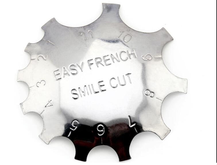 20PCS Lot HOT Edge Trimmer Cutter Clipper Styling Nail Gel Easy French Smile Line Tools CXXE01F in Stickers Decals from Beauty Health