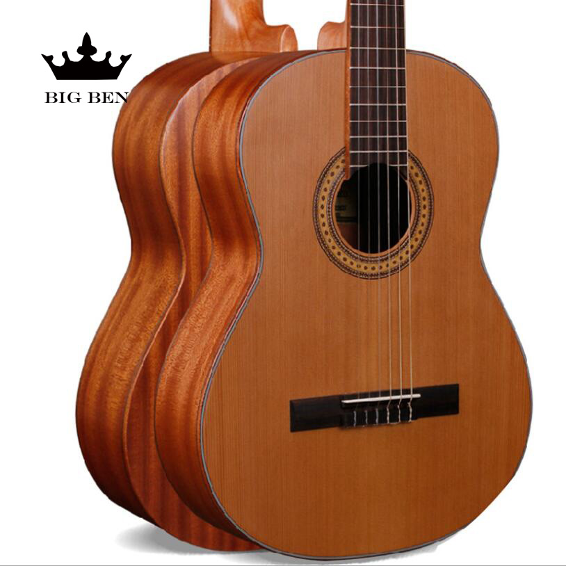 Top Solid Classic Guitar 39inch Korean Pine Wooden Guitar