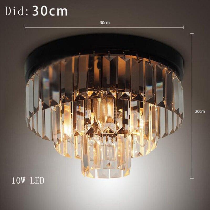 Cake Crystal Ceiling Light Bedroom Lamp