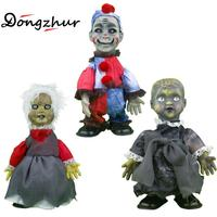 Dongzhur Walking Ghosts Doll Halloween Toys Halloween Gift For Children Cloth Fabric Plush Plastic Battery Ghosts Doll 30cm
