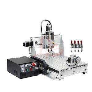 Image 2 - Máquina de perfuração de gravura do cnc do metal 6040z usb mach3 roteador madeira com 1.5kw vfd eixo e cortador pinça braçadeira vise perfuração