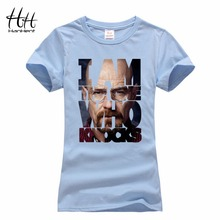 HanHent Summer T-Shirt Women Breaking Bad Cotton Short Woman Clothes Chemistry TV Heisenberg Camisetas Mujer 2016 T shirt Femme