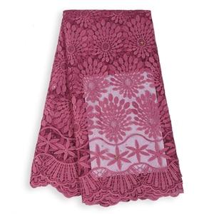Image 2 - Tissu en dentelle française en dentelle de haute qualité, tissu nigérian en dentelle de Tulle africain, tenue de soirée, pour femmes, collection offres spéciales