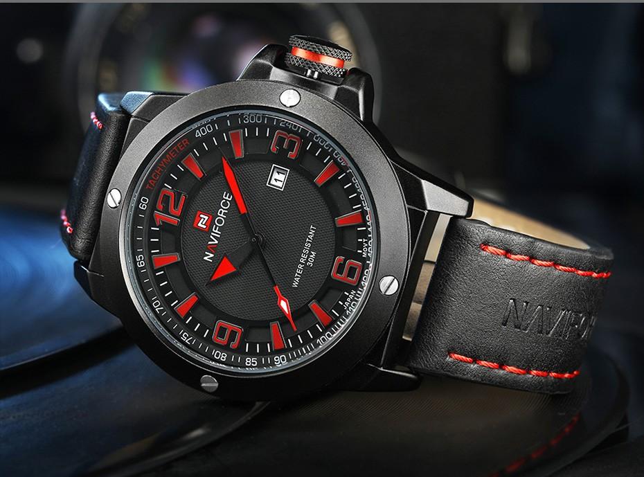 2017 Nouveau Luxe Marque Naviforce Hommes Classique Militaire Montres Hommes de Quartz Date Horloge Homme Poignet Montre de Sport Relogio Masculino 14