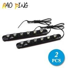 2X Flexible Led DRL Driving Fog Light Daytime Running Light For Honda/Toyota/Hyundai/VW/Kia Car Accessories 12v