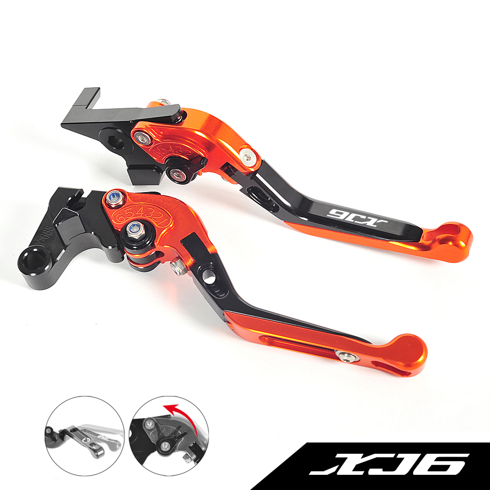 All CNC Motorcycle Foldable Lever Motocross Brake Clutch Levers Case for Yamaha XJ6 Diversion XJ 6 2009-2015