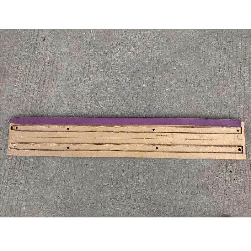 Règle de lame en acier du japon poinçon en acier découpé avec des matrices en bois de moule de coupe de bande de ceinture en cuir pour l'artisanat en cuir longueur de 1200mm