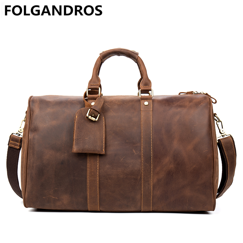 Fashion Genuine Leather Travel Bag Men Casual Handbags Cowhide Business Travel Duffle Large Capacity Luggage Bags Crossbody Bag 2013 male commercial travel bag genuine leather men luggage travel bags shoulder large capacity cowhide business bag items tb17