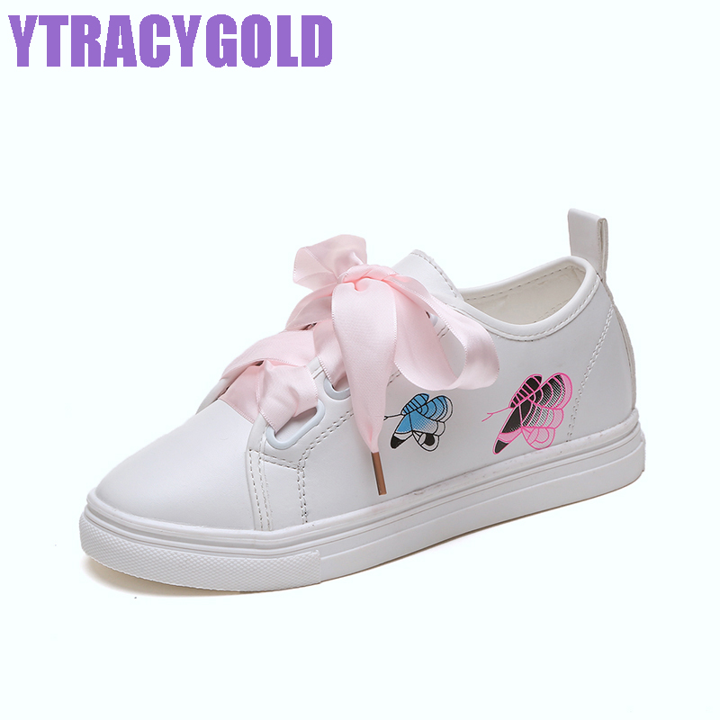YtracyGold New White Shoes Woman Tenis Feminino Flat Platform Solid Embroidery Casual Loafers Women Ladies Shoes Girl Shoes