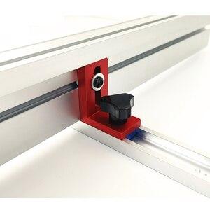 Image 3 - Clôture de profil en Aluminium, 600/800mm, 75mm de hauteur, rails en T et supports coulissants, connecteur de clôture pour menuiserie