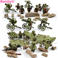 Bainily 6pcs With Many Weapons Military Army Soldiers Building Set Blocks Best Toys For Children
