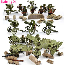 [Bainily] 6 шт. с много оружия в стиле милитари солдаты Строительный набор блоков лучшие игрушки для детей Совместимость legoingly оружие