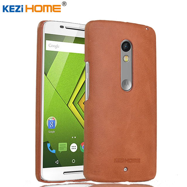 reputable site d28e7 2a282 US $10.7 |Case for Moto X Play KEZiHOME Frosted Genuine Leather Hard Back  Cover capa For Motorola Moto X Play XT1561 XT1562 Cases coque-in ...