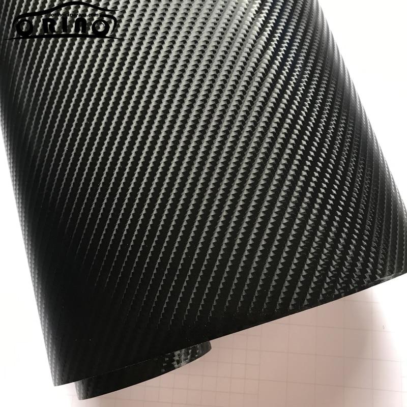 ORINO 1.52*20 M (5FTX65FT) 6D Gloss Envoltório de Vinil Fibra de Carbono Car Wrapping Film Com Bolhas de Ar Livre 6D Filme de Vinil de Carbono|Adesivos para carro| |  - title=