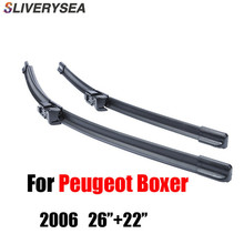 SLIVERYSEA Wiper Blades For Peugeot Boxer 2006 2008 2009 2010 2011 2012 2013 2014 2015 2016 Natural Rubber Windshield Car