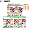 Orijinal 100 levhalar Fujifilm Fuji Instax Mini beyaz Film anında fotoğraf kağıdı Instax Mini 11 7 7s 8 9 70 25 kamera SP 1 2