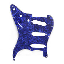 Tortoise Electric Guitar Pickguard Scratch Plate for Fender Stratocaster Guitar Pickguards Guitar Parts Guitar Accessories Blue(China)