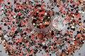 RIM321-202 Mezclar Colores formas de Punto redondo Del Brillo para el arte del clavo, uñas de gel, esmalte de uñas maquillaje y la decoración de DIY