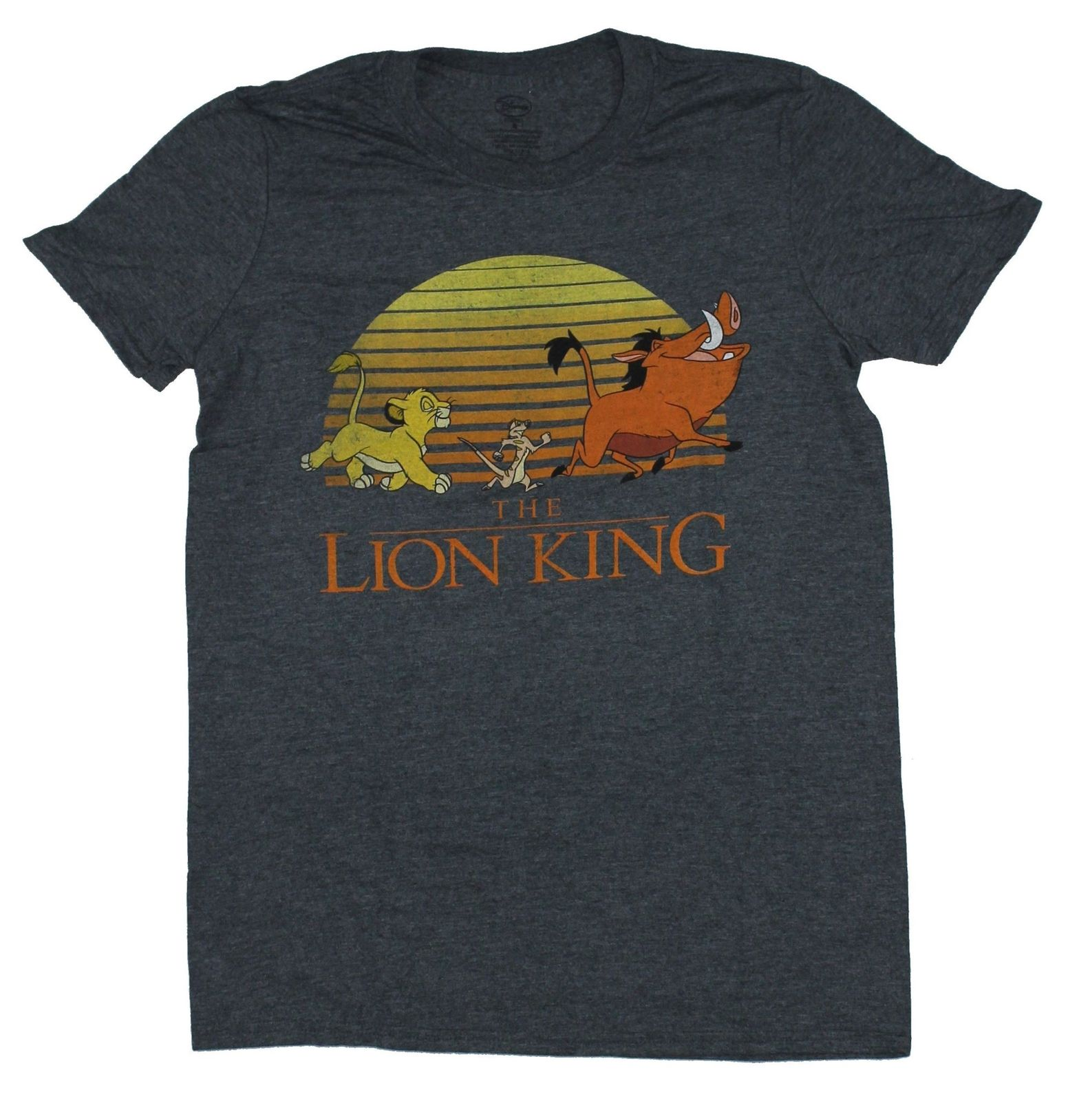 The Lion King Mens T-Shirt - Distressed Full Color Sunset March Cartoon t shirt men Unisex New Fashion tshirt free shipping