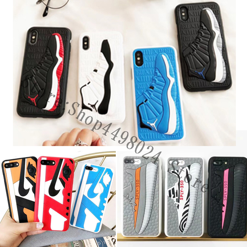 buy online 73999 70f5d US $5.59 5% OFF|New NBA Air Jordan Sports Shoes 3D Basketball Star Soft  Phone Cases For iphone 6 6S 7 8 Plus X XS XR MAX 10 Back Cover Case-in  Fitted ...