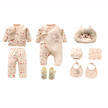 New Cat Newborns Clothes Set Cotton Cartoon Print Baby Girl Clothes Soft New Born Infant Boy Clothing Baby Set Gift 1