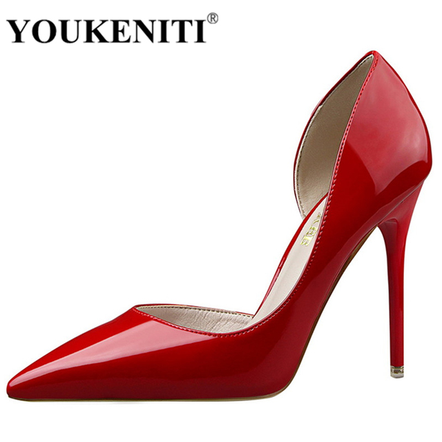 YOUKENITI High Heels Shoes Women's Shoes Wedding Shoes Women Pumps Sexy Thin Heels Footwear Women Sapato Femini Shoes DS638-5