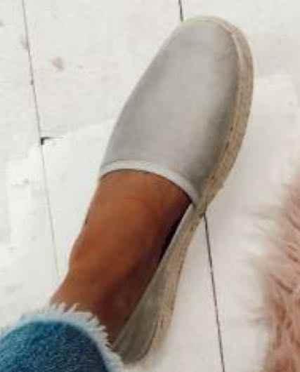 WENYUJH נשים רדוד פה נעלי בד דירות מוצק מוקסינים שטוח תחתון פשתן בד-להחליק נעלי דייג לנשימה