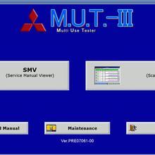 Для Mitsubishi M.U.T.-III диагностическое программное обеспечение PRE19031 [3,]+ ЭБУ перезапись Rom