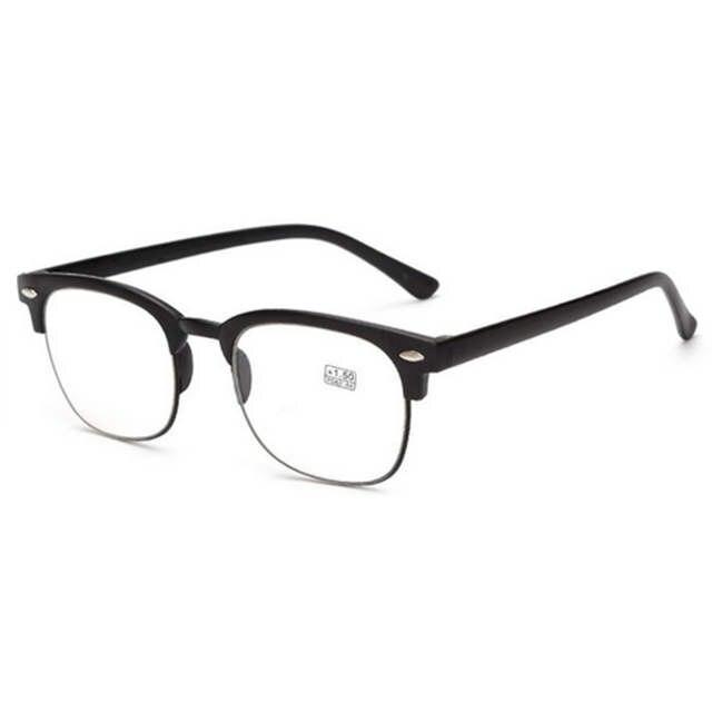 c13a3d223cf2 Online Shop TR90 reading glasses Vintage Retro Classic Half Frame Horn  Rimmed reading glasses 1.0 1.5 2.0 2.5 3.0 3.5 4.0