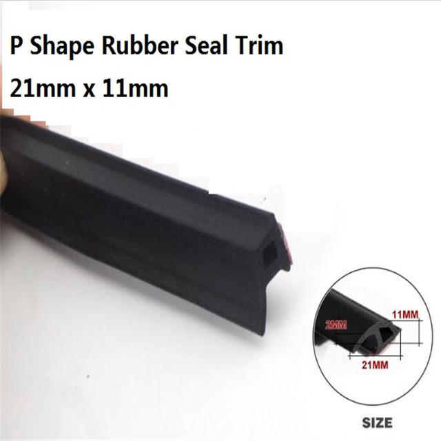 P Type Car Rubber Seal Filler Adhesive Door Bottom Seal High Density Car  Door Seal Strip