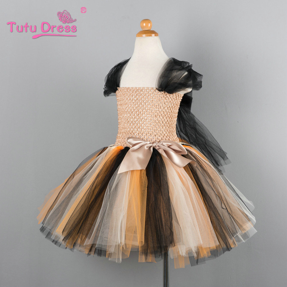 Girls Halloween Princess Festival Costume Tutu Dress For Party Prom Dance Dress Children Clothing For 2-12 Years