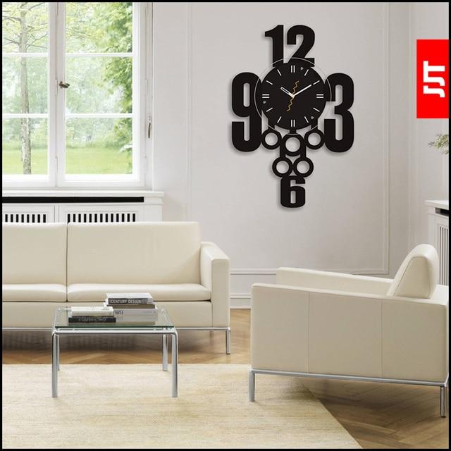 Luminousness Mode Persoonlijkheid woonkamer Wandklok Moderne korte ...