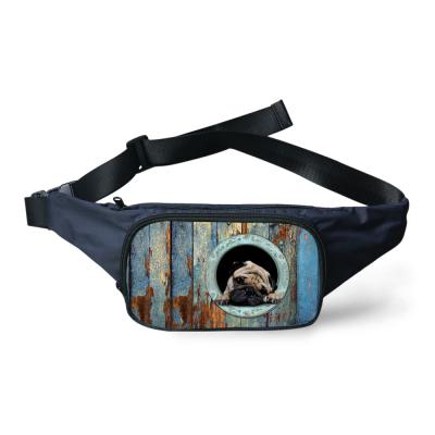 FORUDESIGNS Pug Bonito Fanny Pack para Mulheres Dos Homens da Cópia Do Cão Do Gato animais Bolsa Saco Da Cintura Durável Meninos Zipper Homens de Viagem Cinto de Dinheiro