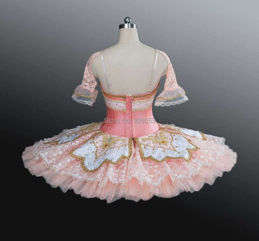Erwachsene/Kinder/Mädchen Klassische Nussknacker Ballett ballettröckchen, Platte Tutu Kostüme, Pfofessional Rosa Rock 12 Schichten Fest Tüll Spitze BT9039 - 3