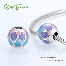 Encanto Del Esmalte de plata Colorful Beads Fit Pandora Pulsera Del Encanto Del Brazalete DIY Que Hace el 100% Auténtico 925 Plata Esterlina Joyería de Las Mujeres