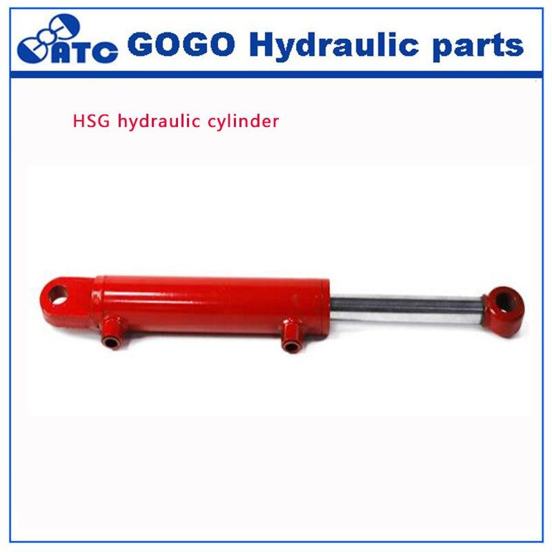 HSG hydraulic cylinder High Pressure Hydraulic Truck Cylinder Double Acting Hydraulic Ram stroke 900mm