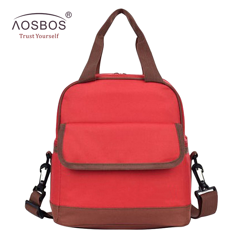 Aosbos Portable Lunch Bags for Men Women Kids Insulated Thermal Lunch Box Picnic Tote bolsa comida Fashion Cooler Bag