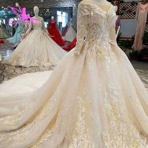 Image 2 - AIJINGYU Wedding Gown Lace Gowns Vintage Pakistani Finland Ball Luxury 2021 2020 Real Cathedral Dress Pakistani Wedding Dresses