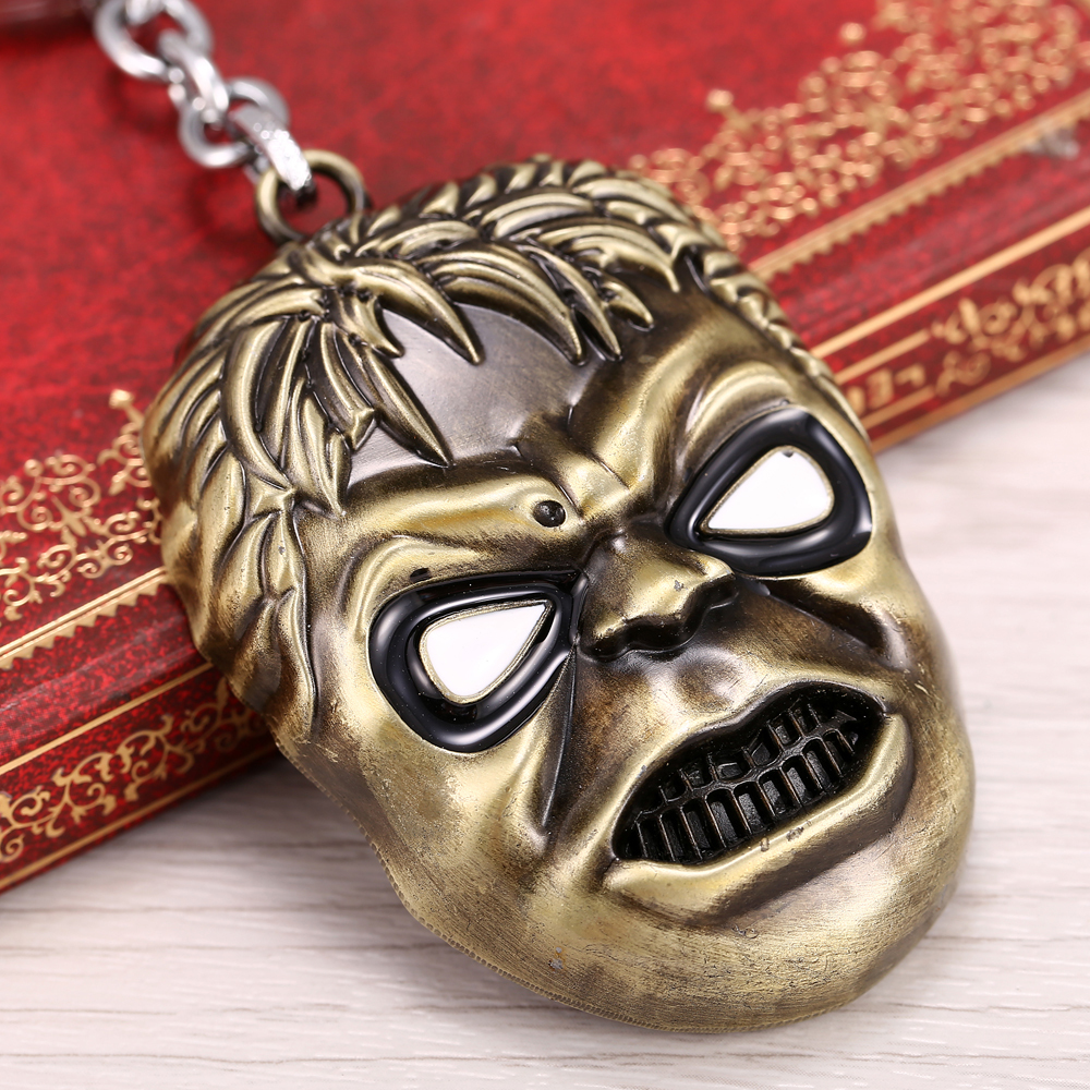 2015 NEW Movie Green giant evil expression Pendant Keychain Mens Jewelry Gift For Men Boys high quality