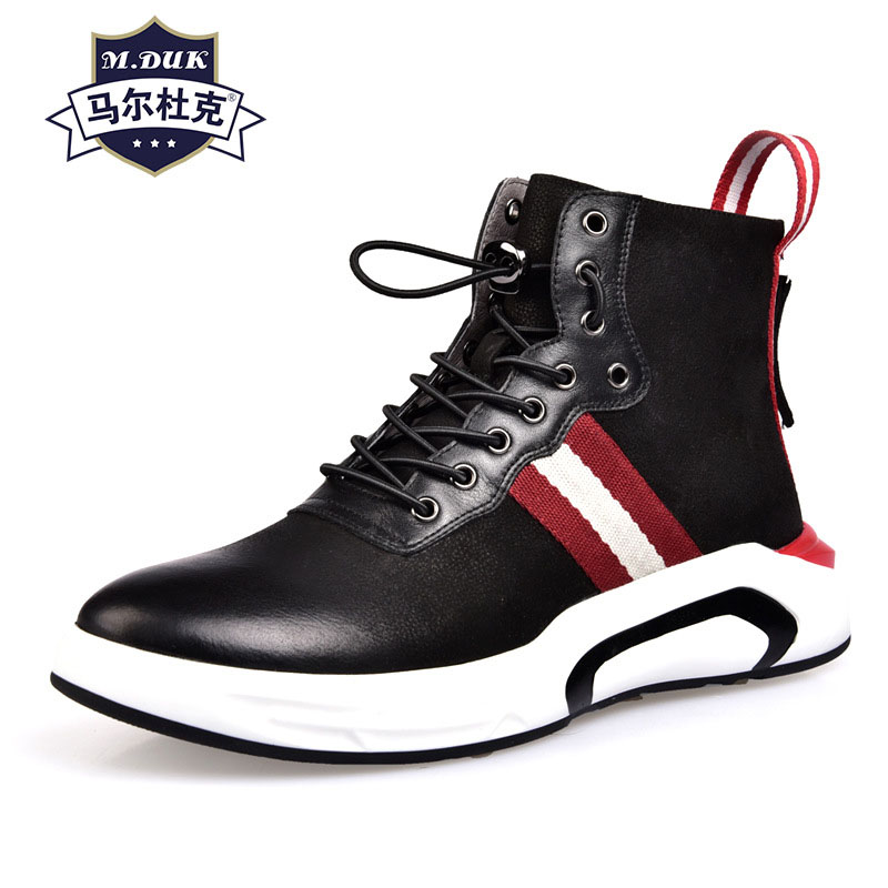designer shoes men high quality Genuine Leather all-match cowhide autumn winter British retro mens tops casual