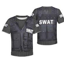 be61c56ae Los niños 3D impreso Sudadera con capucha verano Swat ejército camuflaje de  manga corta Camiseta trajes