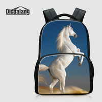 Dispalang New Fashion School Bags For Teenage Girls Boys Horse Printed Backpacks For Children Cotton Rucksack