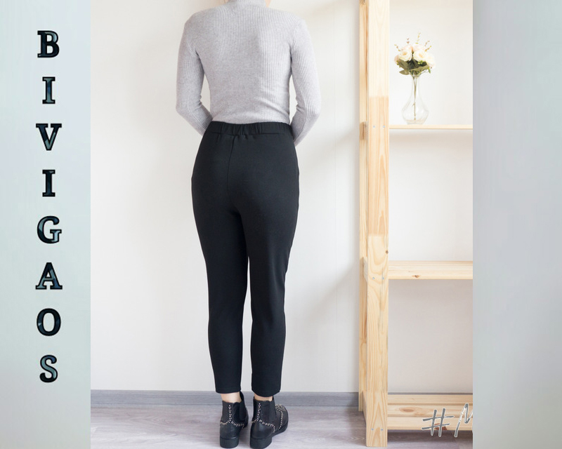 BIVIGAOS Spring Summer New Ladies Korean OL Black Harem Pants Breathable Thin Casual Pencil Pants Simple Suit Trousers For Women 15
