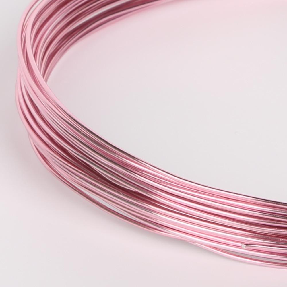 10m/5m/3m/roll 1mm 1.5mm 2mm 2.5mm Diameter colored aluminum wire ...